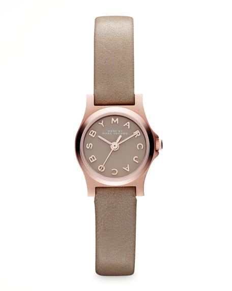 Enamel Dial Rose Golden Watch, Gingersnap