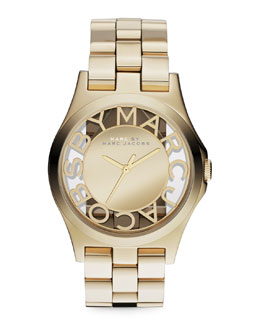 MARC by Marc Jacobs Yellow Golden Mirror Watch
