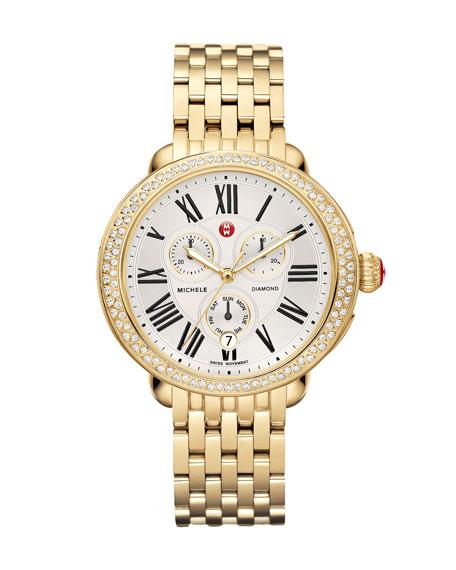 MICHELE Serein Diamond Yellow Golden Watch Head &