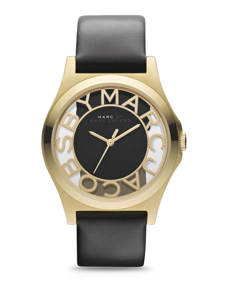 Sunray Dial Watch, Black