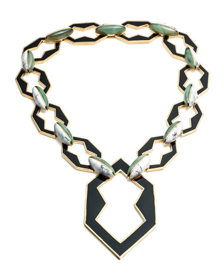 Peaked Link Pendant Necklace