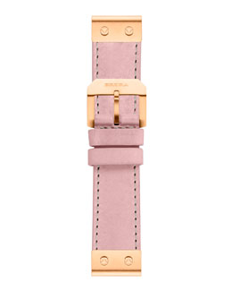 Brera 22mm Rose Petal Calfskin Strap, Golden