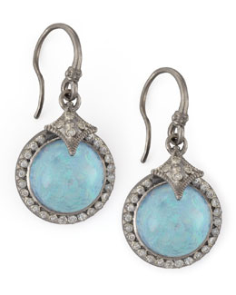 Armenta New World Round Opal & Diamond Drop Earrings