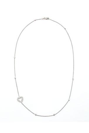 Roberto Coin 18k White Gold Heart Diamond Necklace