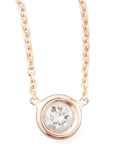 Rose Gold Diamond Pendant Necklace