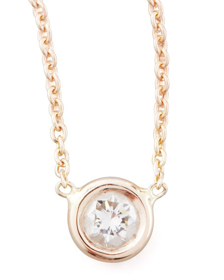 Roberto Coin Rose Gold Diamond Pendant Necklace