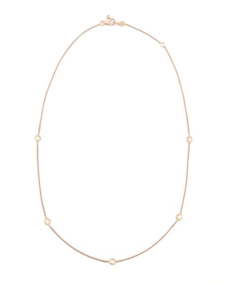 Rose Gold Diamond Station Necklace