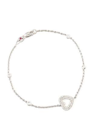Roberto Coin White Gold Heart Diamond Bracelet