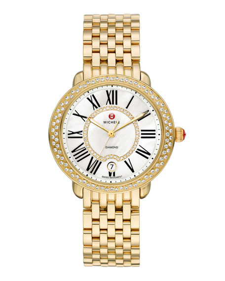 16mm Serein Diamond Watch Head, Gold