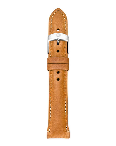 18mm Patent Leather Watch Strap, Khaki