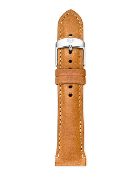 20mm Patent Leather Watch Strap, Khaki