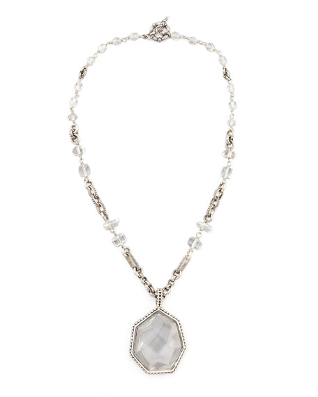 Galactic Rock Crystal Necklace