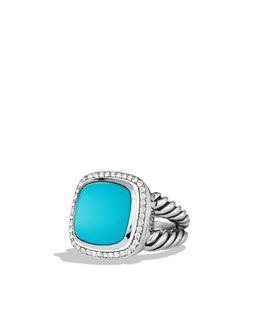 David Yurman Albion Ring with Turquoise and Diamonds