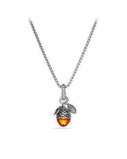 David Yurman Cable Collectibles Acorn and Pine Cone Charm with Citrine