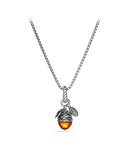 Cable Collectibles Acorn and Pine Cone Charm with Citrine