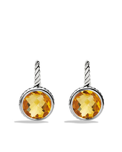 David Yurman Color Classics Drop Earrings with Citrine