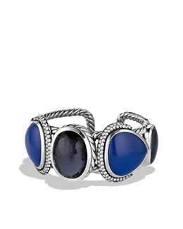 David Yurman Ultramarine Cuff with Black Orchid, Lapis Lazuli, and Gray Sapphires