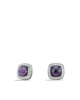 David Yurman Albion Earrings with Black Orchid and Diamonds