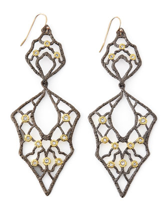 Dangling Lace Wire Earrings