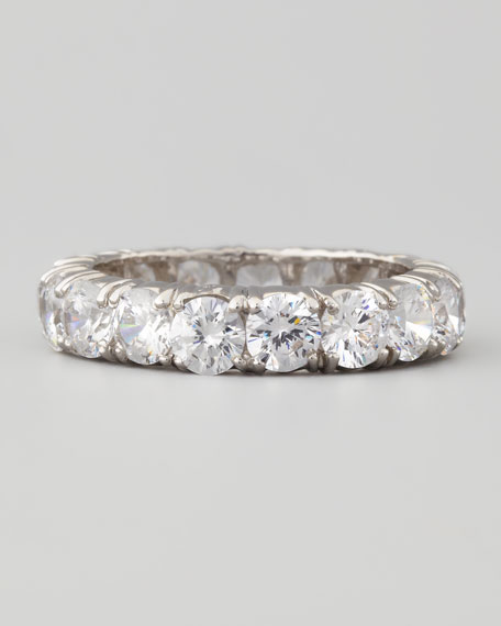 Round-Cut Cubic Zirconia Eternity Band Ring