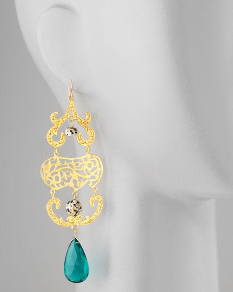 Quartz & Jasper Chandelier Earrings