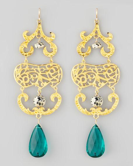 Devon Leigh Quartz & Jasper Chandelier Earrings