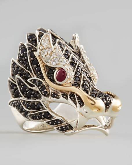 John HardyPave Naga Dragon Head Ring