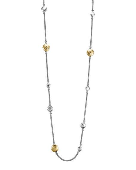 John Hardy Palu Silver & Gold Sautoir Necklace