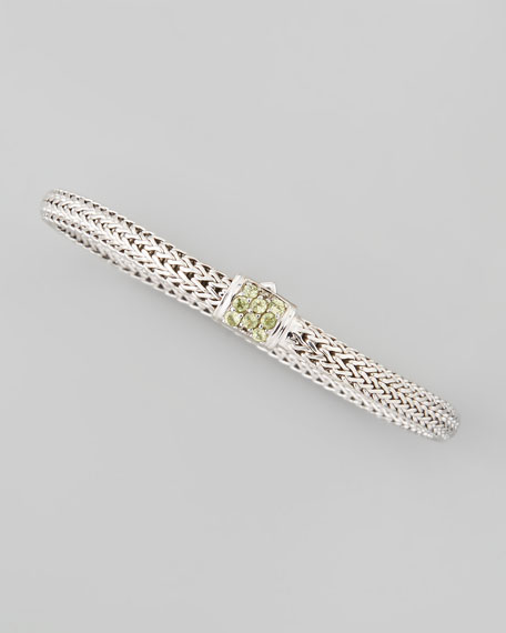 Classic Chain Braided Peridot Bracelet