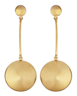 Robert Lee Morris Gold-Plate Button Drop Earrings