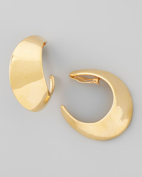 Graduated Hoop Clip Earrings