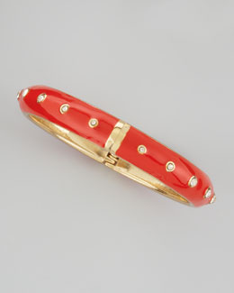 Sequin Basic Crystal-Dot Bangle, Orange