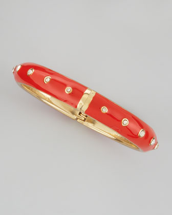 Basic Crystal-Dot Bangle, Orange
