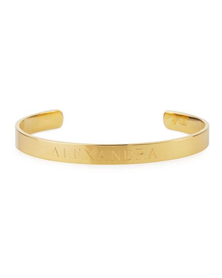 Sarah Chloe Ciela Personalized ID Bracelet, Gold