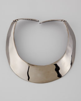 Kenneth Jay Lane Polished Gunmetal Collar Necklace
