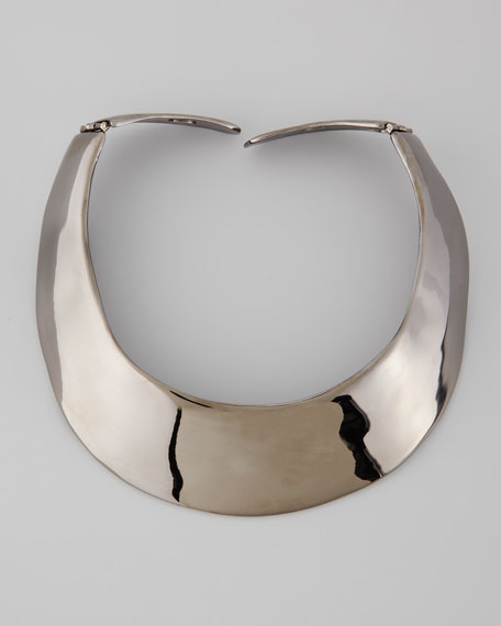 Polished Gunmetal Collar Necklace