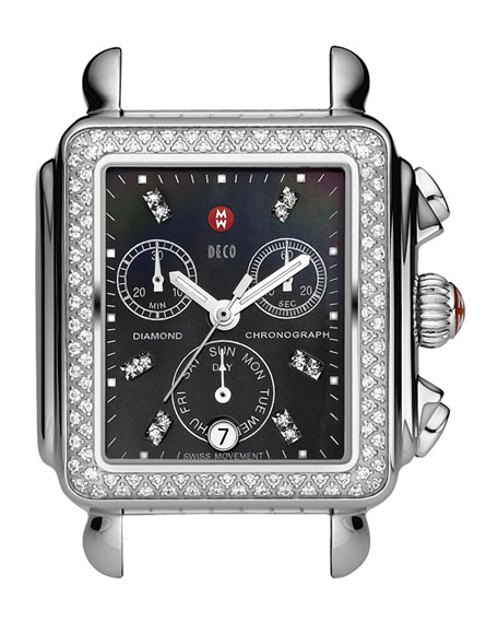 MICHELE Deco Diamond Watch Head & Three-Link Bracelet