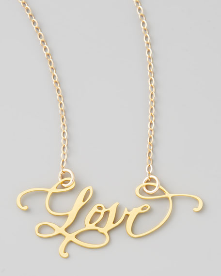 Brevity Love Hand-Calligraphed Necklace