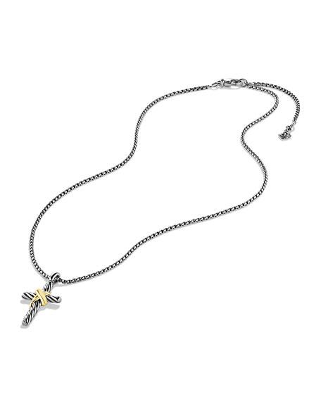 David Yurman X Cross with Gold on Chain