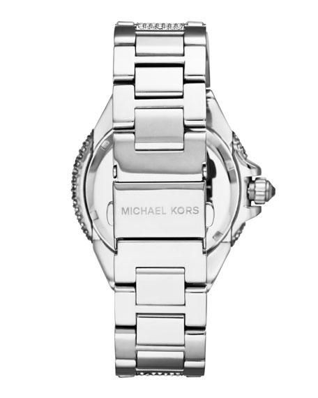 Mid-Size Silver Color Camille Three-Hand Glitz Watch