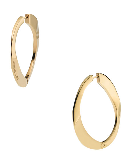 Link Hoop Earrings, Golden