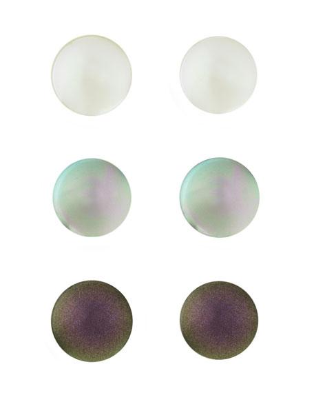 Simulated Pearl Earrings, Set of 3