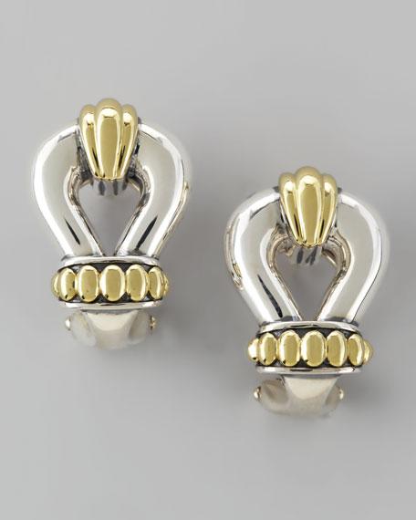 Derby Two-Tone Buckle Post Earrings