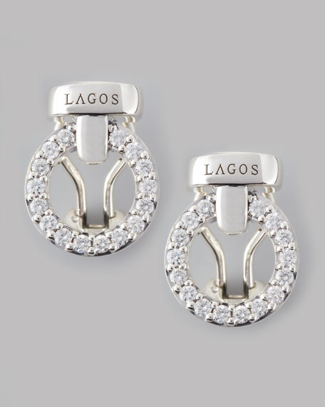 Enso Diamond Circle Stud Earrings