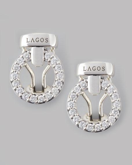 Enso Diamond Circle Stud Earrings