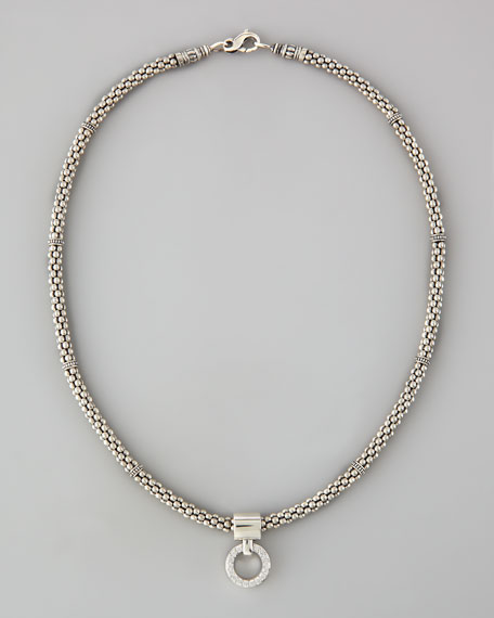 "Enso Diamond Pendant Necklace, 16"""