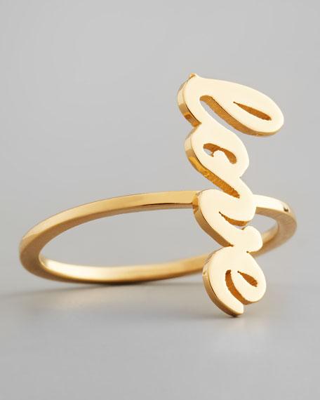 Sideways Cursive Love Ring