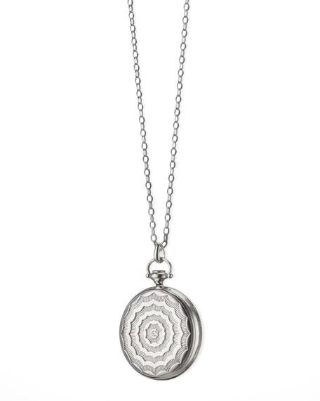 Monica Rich Kosann Pocketwatch Locket Necklace