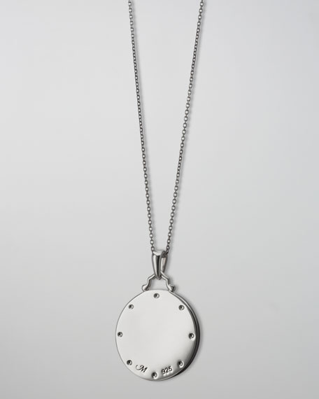 White Sapphire Paw Print Charm Necklace