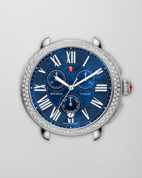 Serein Diamond Watch Head, Blue